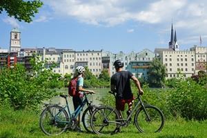 Mozart-Radweg-Wasserburger Altstadt Quelle: Chiemsee-Alpenland Tourismus